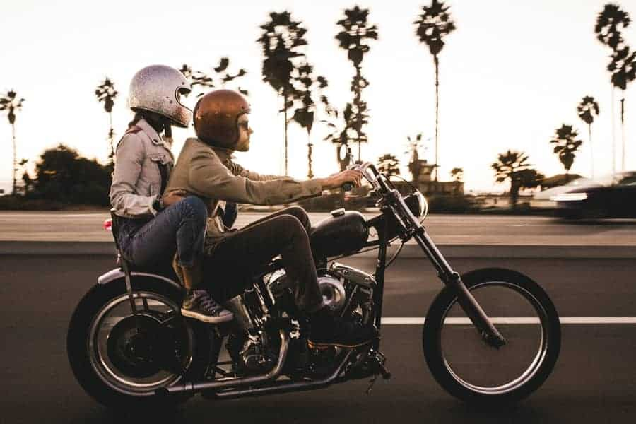 My boyfriend rides a motorcycle